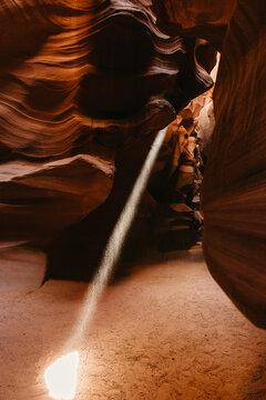 Sunbeam inside Antelope Canyon Arizona USA