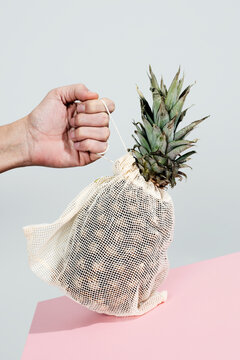 textile reusable mesh bag