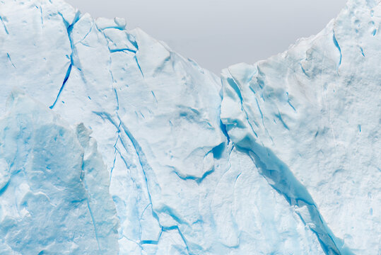 Detail of a blue ice on a glacier