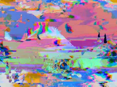 Futuristic Glitch Background