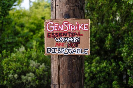 Essential Worker Strike