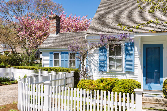 Cape Cod Cottage Home in Spring Bloom