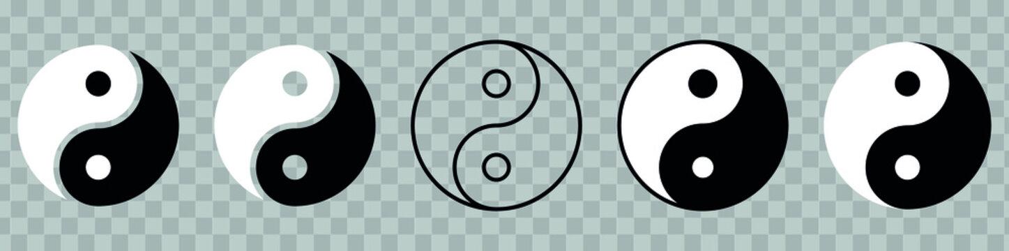 Yin Yang icon, symbol of harmony and balance