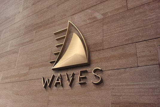 3d wave logo design