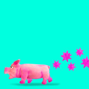 Swine is escaping from viruses epidemic outbreak