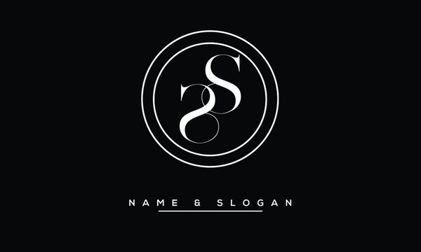 S, SS   Abstract Letters Logo Monogram