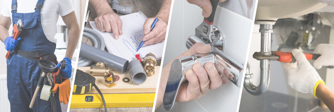 Professional plumber presentation banner - Advertisement for website