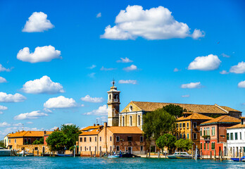 historic buildings in Murano - near Venice - italy
