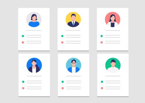 人材採用のための履歴書・プロフィールのイラスト素材