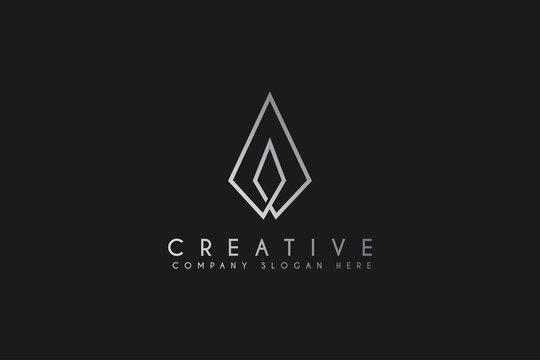 Candle fire logo design vector illustration