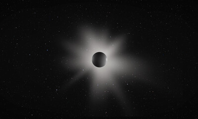 Wall Mural - Solar Eclipse with many stars