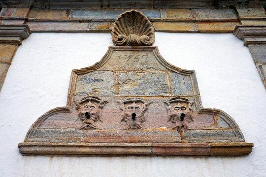 Ancient fountain built in 1752, Ouro Preto, Brazil