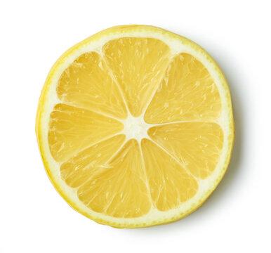 slice of ripe lemon