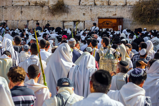 The blessing of the Cohanim. Jerusalem