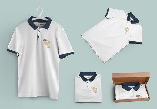 4 Polo Shirt Mockups