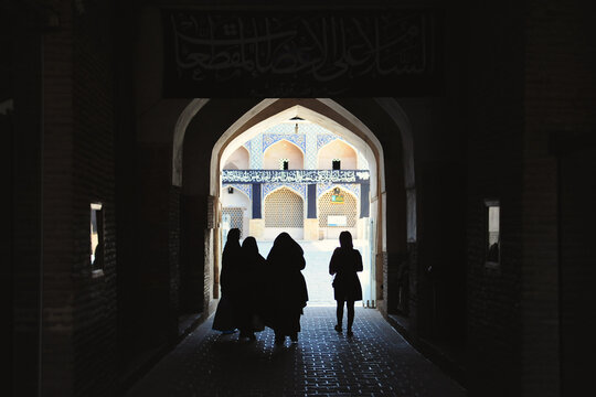 Women at a mosque in Esfahan, Iran