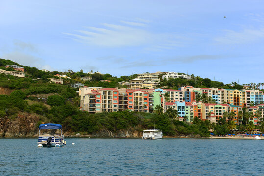 Marriott's Frenchman's Cove hotel at Long Bay in Charlotte Amalie, Saint Thomas, US Virgin Islands, USA.