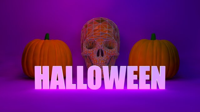 Spooky Skull Halloween Background