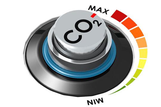 Carbon dioxide control knob dial