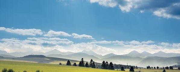 Photo sur Plexiglas Bleu jean Tatra Mountains landscape in summer, Poland
