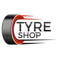 Wall Mural - Reifenhandel - tyre shop - logo