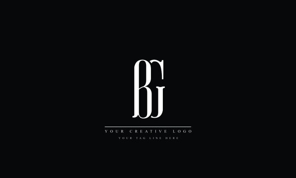 BG, GB, B, G Letter Logo Design with Creative Modern Trendy Typography