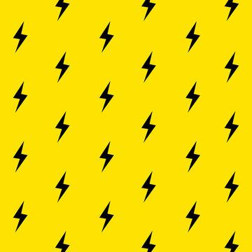 Lightning bolts pattern. Thunder bolt pattern energy lightning background
