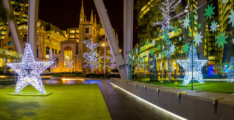 Fotomurales - View of London's Citi in Christmas