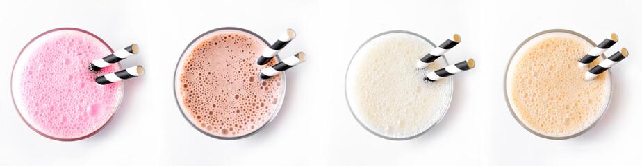 Set of Milk Shakes, Smoothies