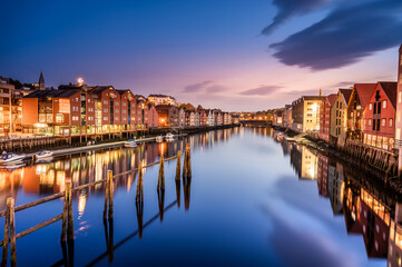 Famous tourist attractions in Trondheim, Norway