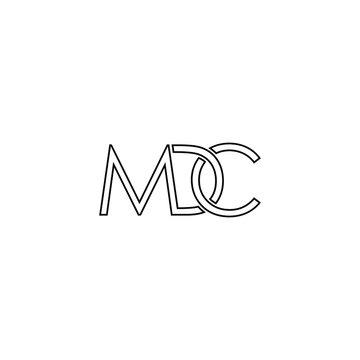 illustration vector graphic of logo letter mdc line