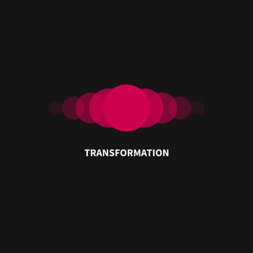Change, transformation logo. Business icon, innovation, development
