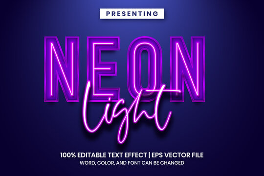 Neon light sign text effect