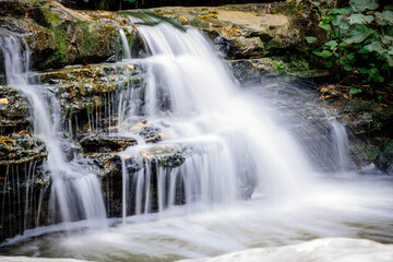 litle waterfall in the nature