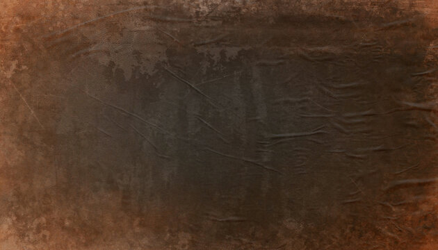 Grunge brown coffee distressed background, old crumpled paper