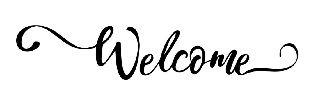 Vector Welcome Sign