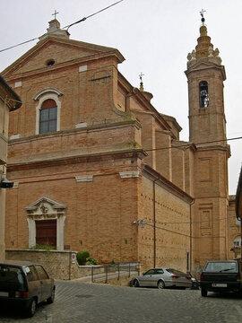 Italy, Marche, Corinaldo, diocesan sanctuary of Santa Maria Goretti.
