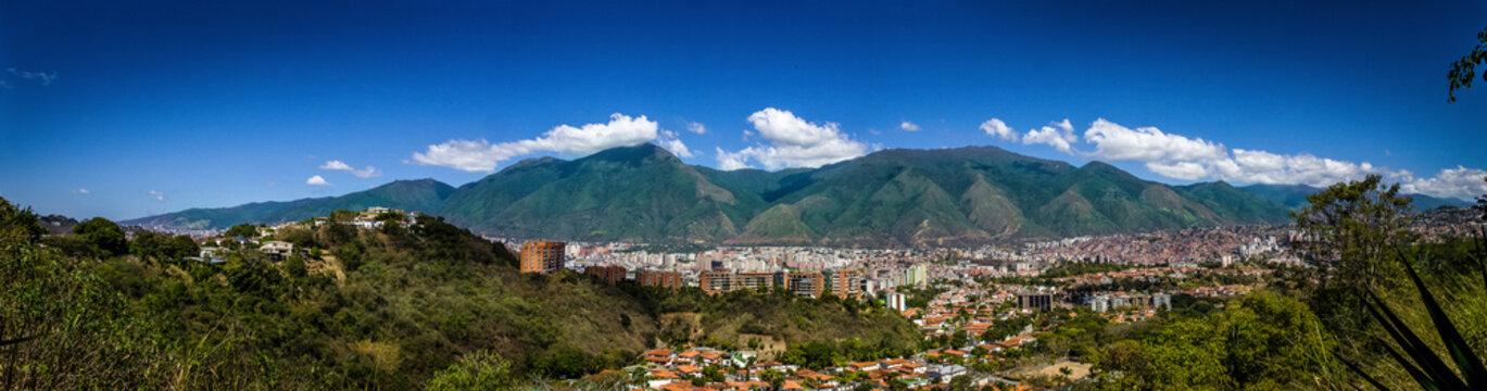 Caracas city panoramic and El Avila mountain, Venezuela