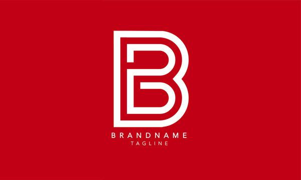 Alphabet letters Initials Monogram logo BB, B