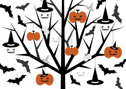 ハロウィンかぼちゃの模様イラスト