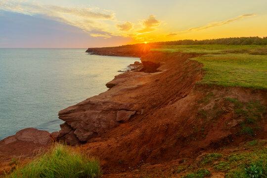 Sunrise in the Oceanview Lookoff, Cavendish, PEI