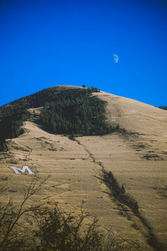 Mount Sentinel with The M logo, Missoula, Montana
