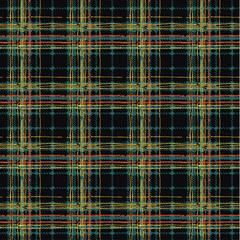 Grunge Scottish tartan plaid vintage fabric abstract vector seamless pattern