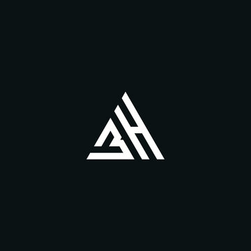 BH/HB initial logo design vector