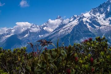 Photo sur Plexiglas Bleu jean french alps landscape