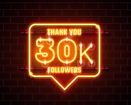 Thank you followers peoples, 30k online social group, happy banner celebrate