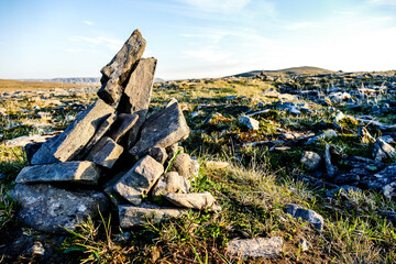 stones on the beach, in Sweden Scandinavia North Europe , taken in nordkapp, europe