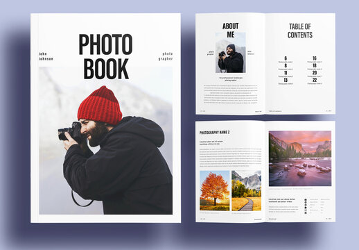 Simple Photographer Photo Book Layout