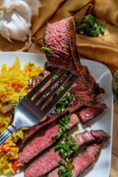 Chimichurri Steak Yellow Rice