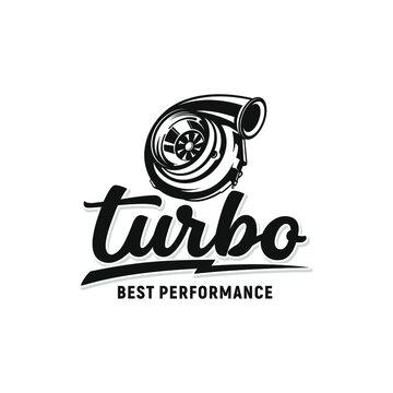 Turbo performance auto logo automotive logo vector